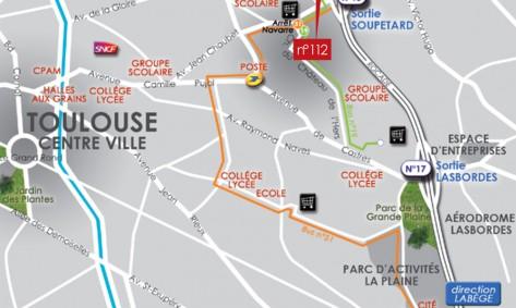 Plan Résidence Perla Rosa à Toulouse